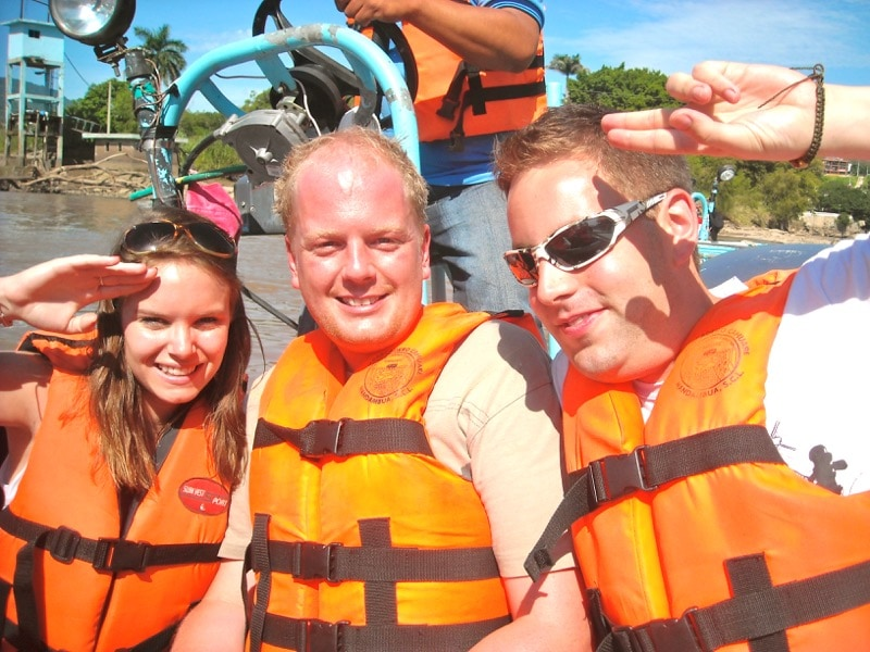 On a boat tour - Trek America - Mexico 2011