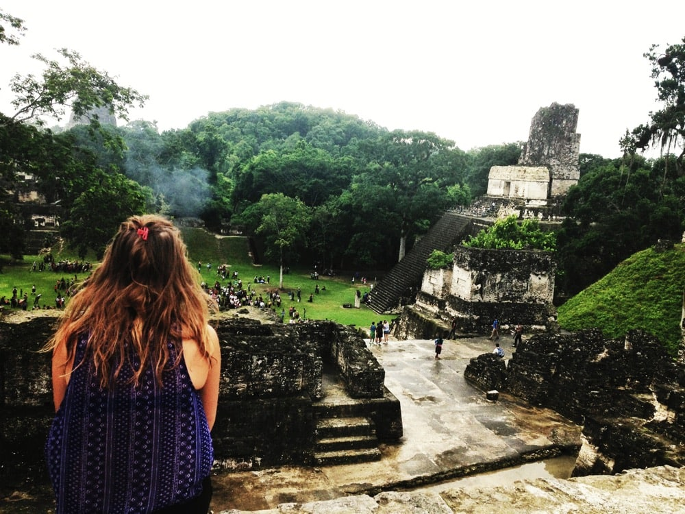 Looking out over Tikal, Guatemala