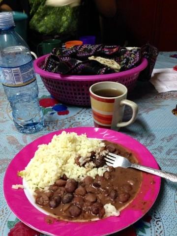 Wanderlust Chloe Homestay Meal Guatemala