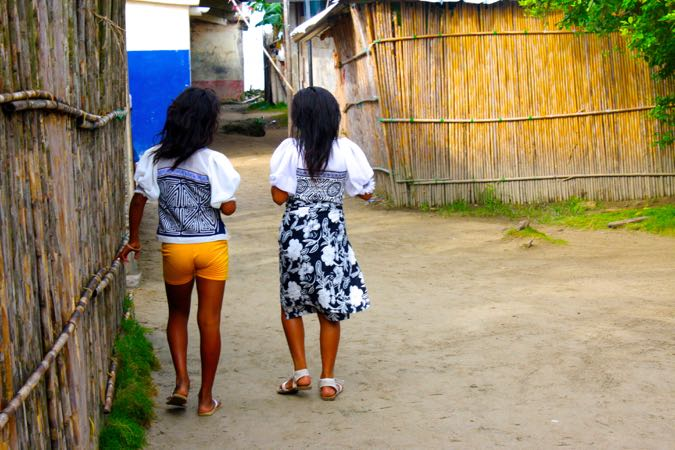 Kids in the San Blas Islands, Panama