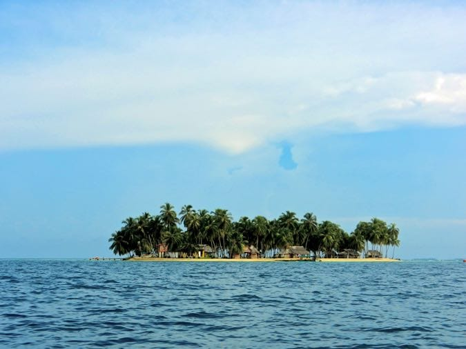One of the tiny islands in the San Blas Islands, Panama