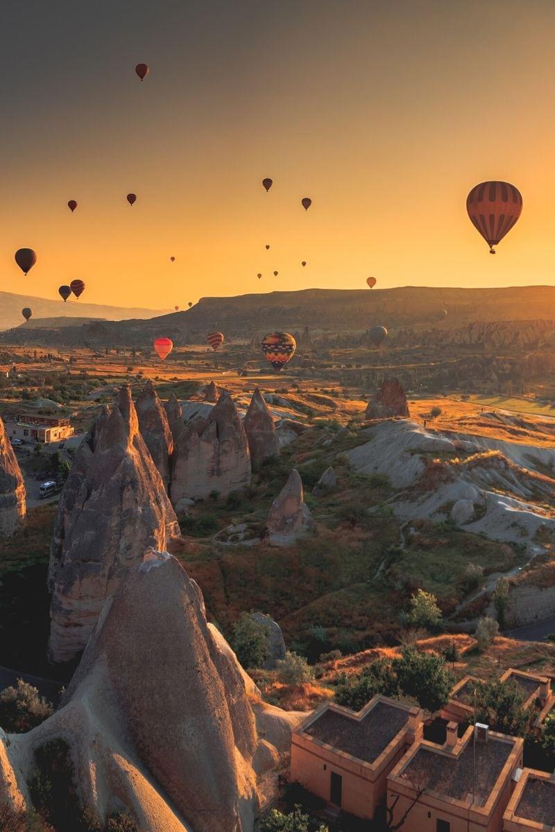 Sunrise hot air balloon flight, Cappadocia