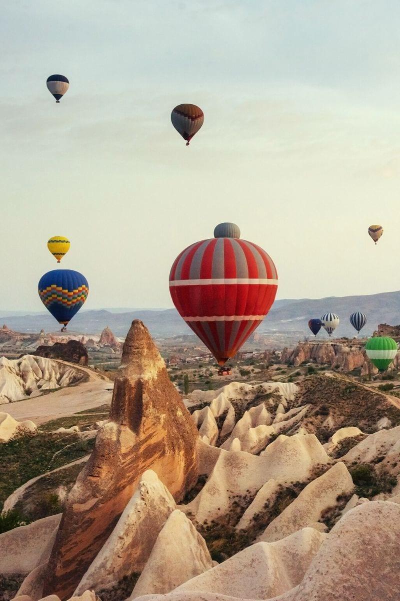 Amazing views of the hot air balloons in Cappadocia