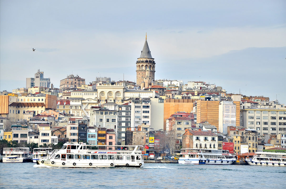 Views of Istanbul from the Bosphorus ferry