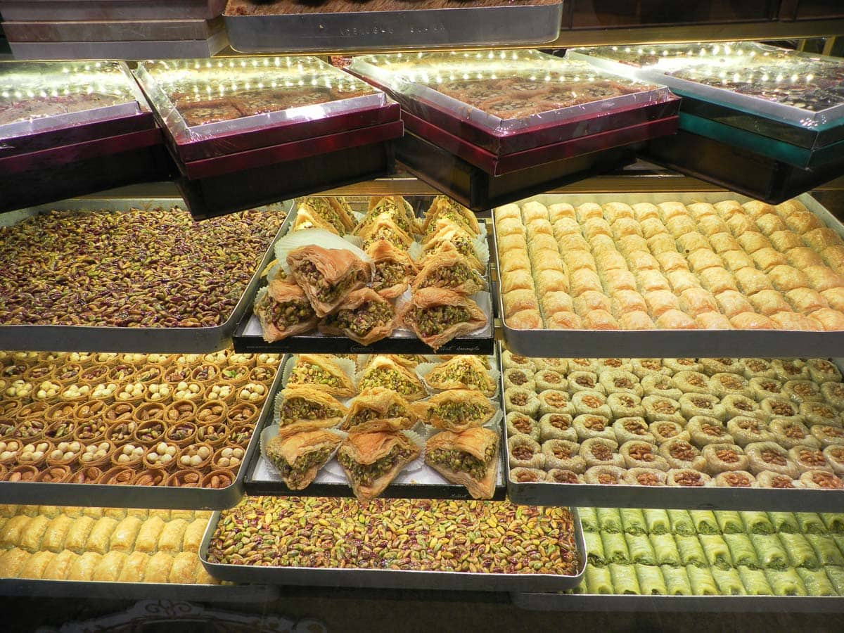 Baklava and sweet treats in Istanbul