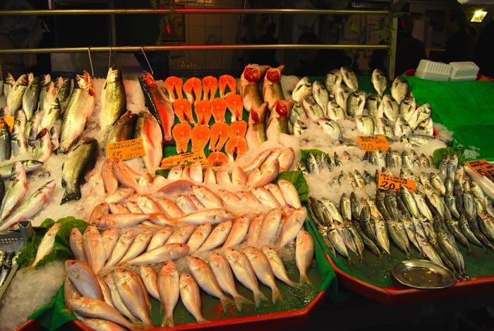Fish for sale in Istanbul, Turkey