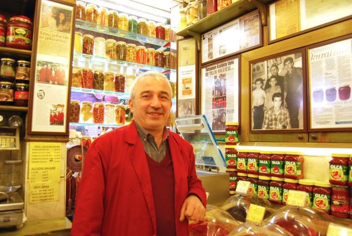 Istanbul pickle store - shop owner