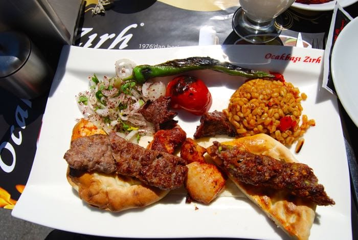 Tasty kebabs on our food tour of Istanbul