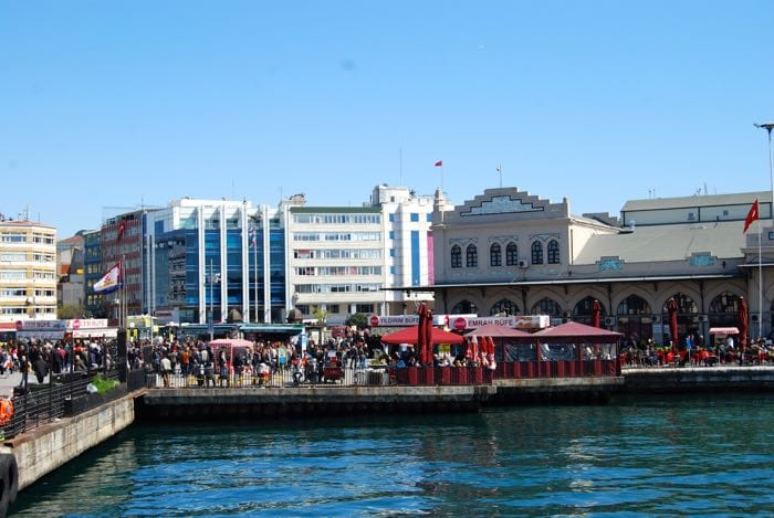 Arriving in the Kadikoy district on our food tour of Istanbul