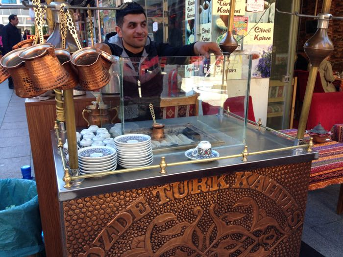 Turkish coffee to finish our Istanbul food tour
