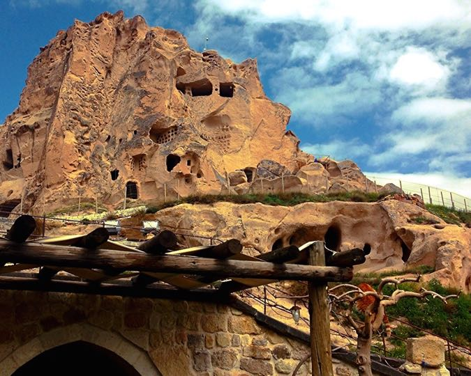 Wanderlust Chloe Kale Konak Cave Hotel Cappadocia 12 Uchisar Castle