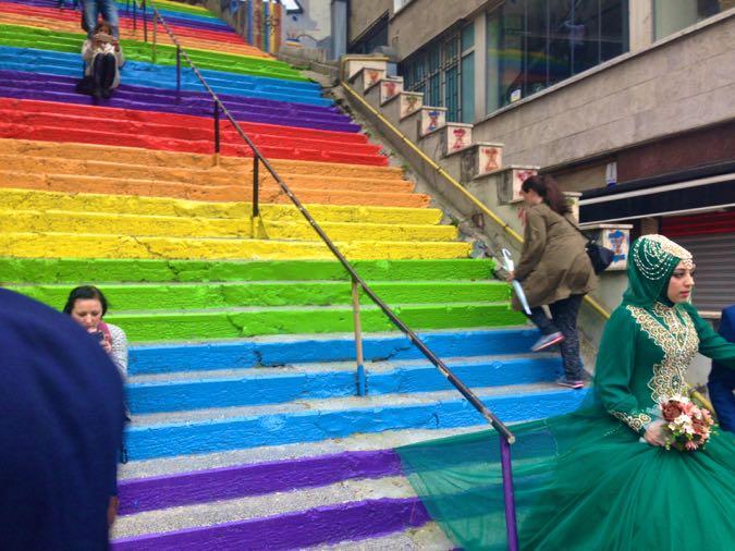 Wanderlust Chloe Rainbow Steps Istanbul 06