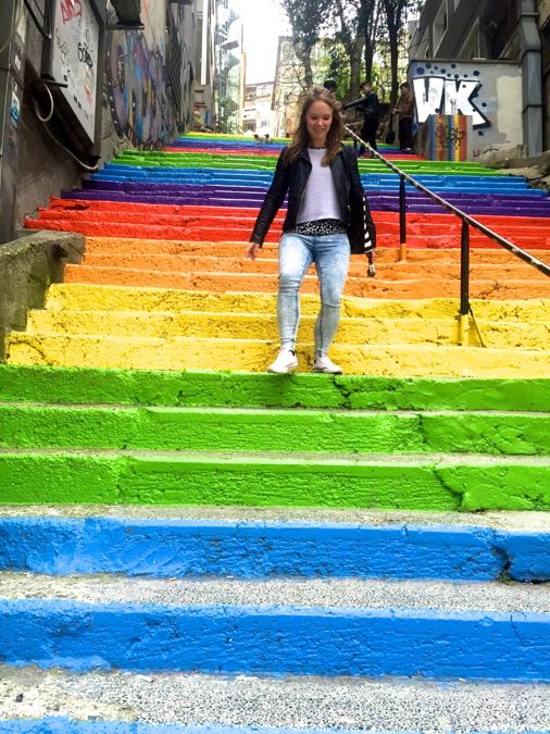 Wandering down the Rainbow Steps, Istanbul