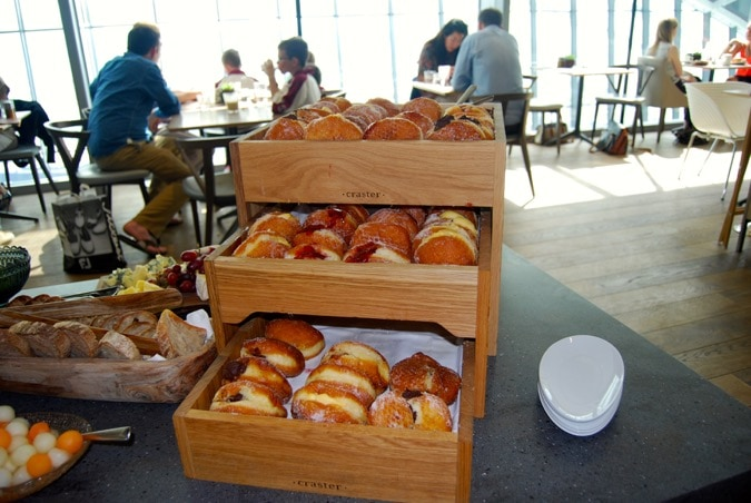 Donuts at the Sky Garden restaurant - Darwin Brasserie