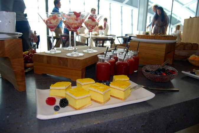 Great desserts at the Sky Garden restaurant - Darwin Brasserie