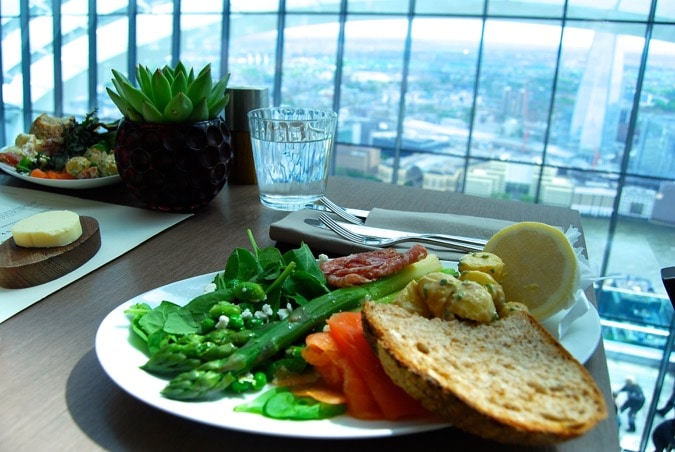 One of London's highest brunches - Darwin Brasserie, Sky Garden, London