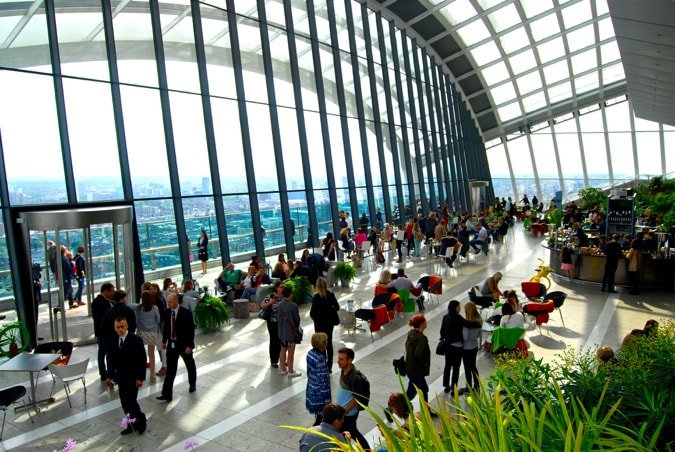 Inside the Sky Garden, London