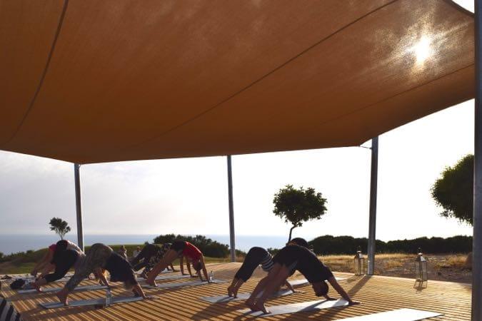 The yoga area at Sensatori Cyprus