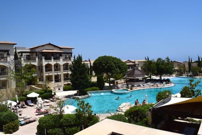 The main swimming pool at Aphrodite Hills Sensatori Cyprus