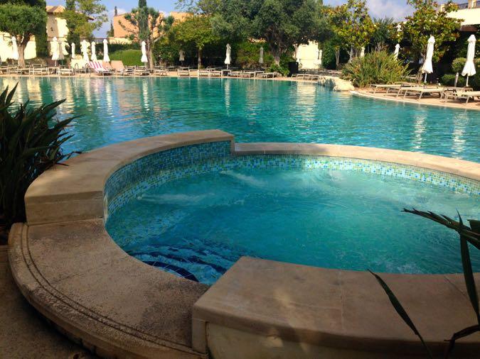 The swimming pool at this lovely Sensatori Cyprus Hotel