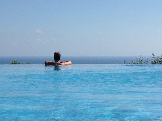 Looking out from the spa pool at Sensatori Cyprus