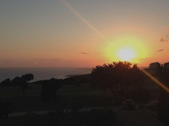 Sunset at Sensatori Cyprus Hotel - Aphrodite Hills