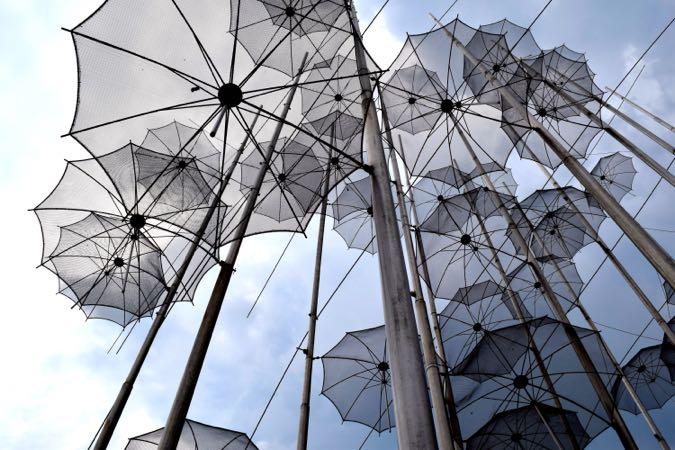 Thessaloniki Umbrella Sculpture