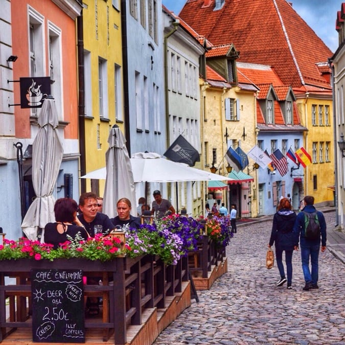 Tallinn's colourful streets