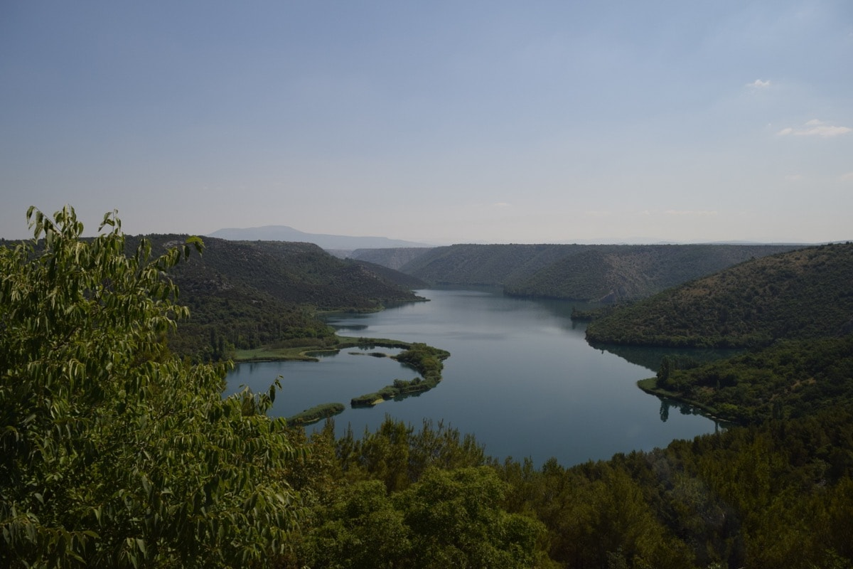 The start of Krka National Park, Croatia