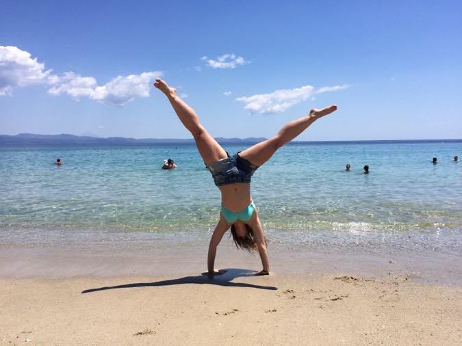 Cartwheeling in Halkidiki, Greece