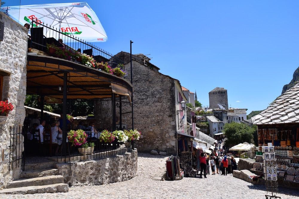 The pretty market in Mostar, Bosnia