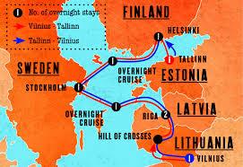 Busabout Scandi Baltic Adventure Map