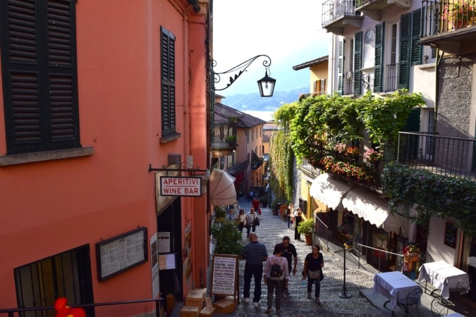 Lake Como Budget Bellagio Street