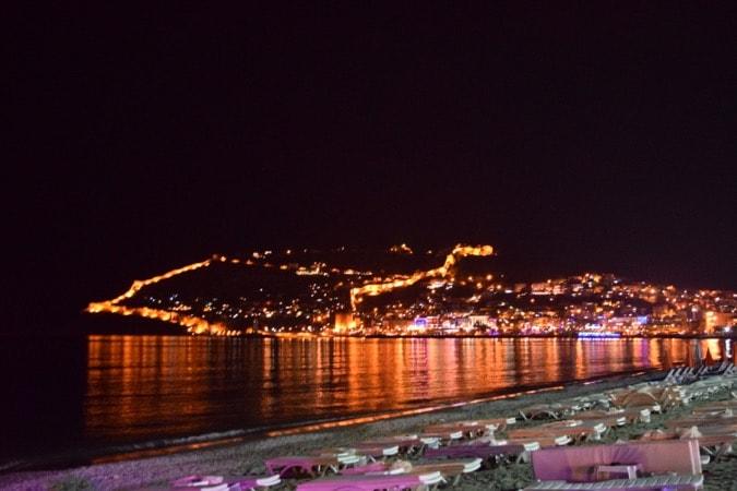 Alanya view nighttime