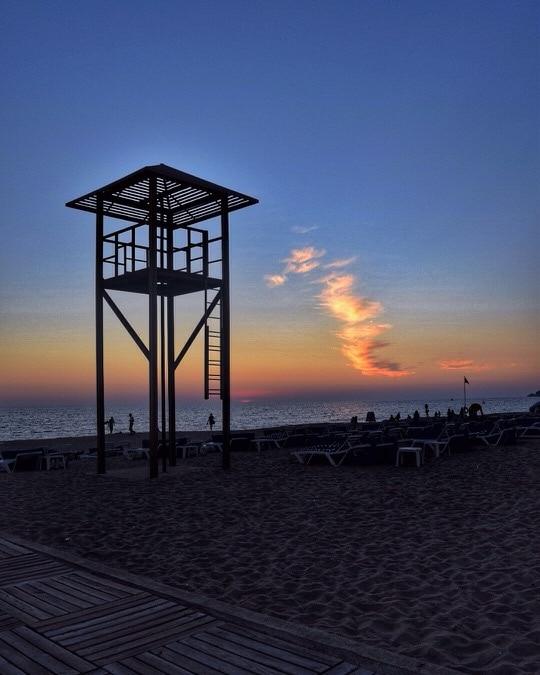 Sunset at Kleopatra Beach