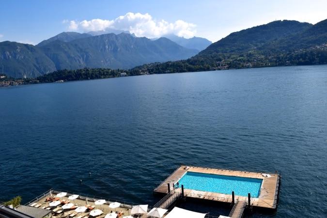 Swimming pool view at Grand Hotel Tremezzo
