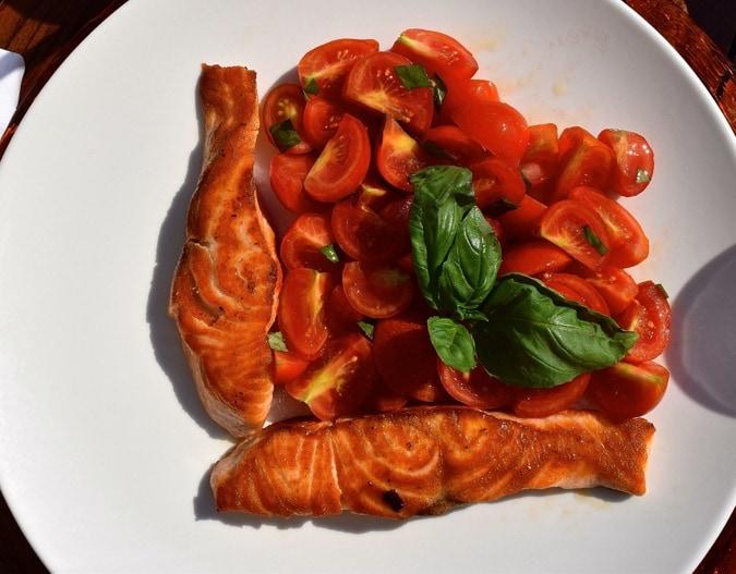Salmon at Grand Hotel Tremezzo