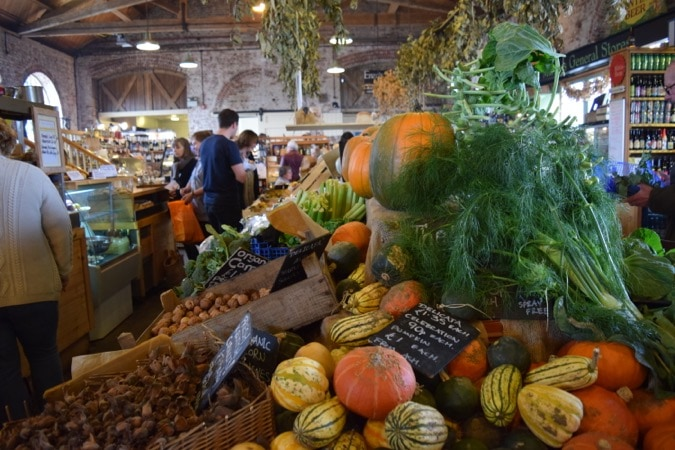 Vegetable Stall at The Goods Shed Canterbury
