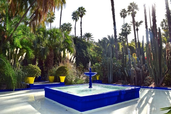 Fountain at the Jardin Majorelle Marrakech