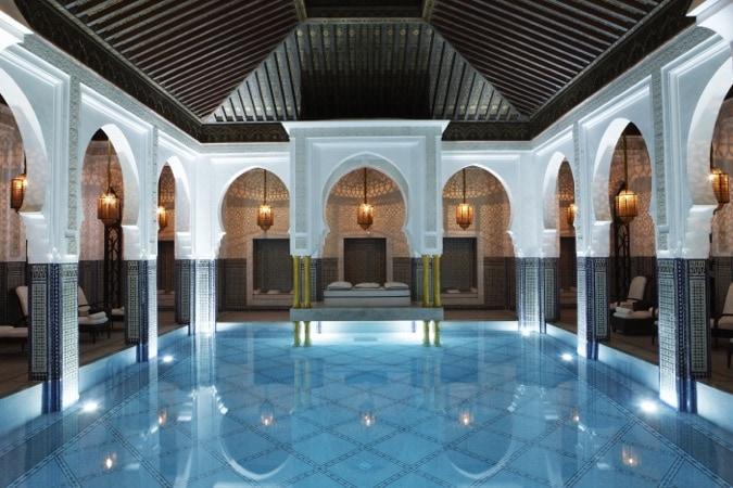 Incredible pool at La Mamounia, Marrakech