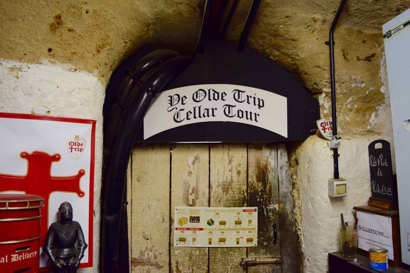 Cellar at Ye Olde Trip To Jerusalem Pub, Nottingham