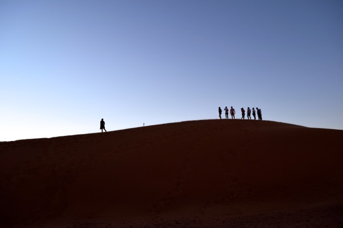 Sunset in the Sahara Desert Morocco