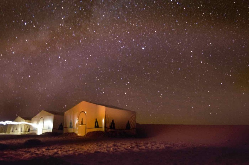 Stargazing in the Sahara Desert