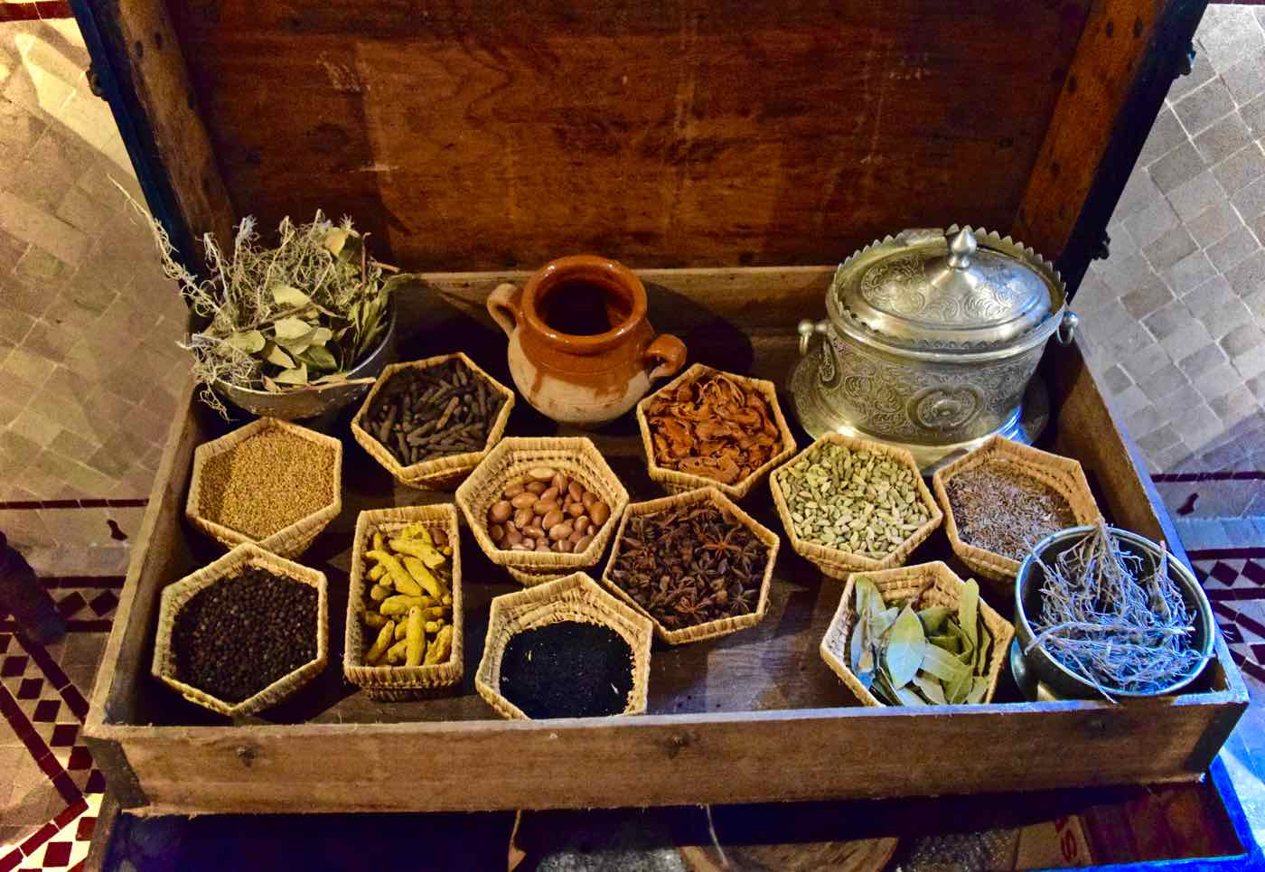 Moroccan spices at La Maison Arabe Marrakech