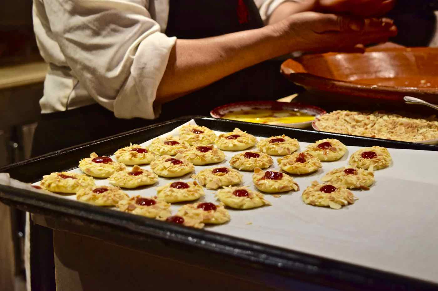 Baking sables at La Maison Arabe Marrakech