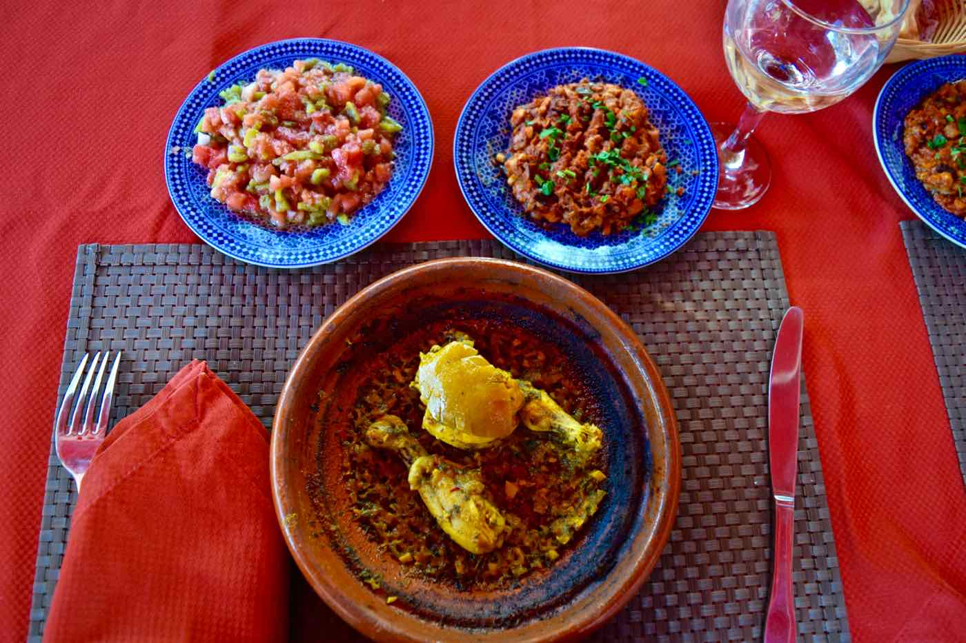 Lunch is served at La Maison Arabe Marrakech