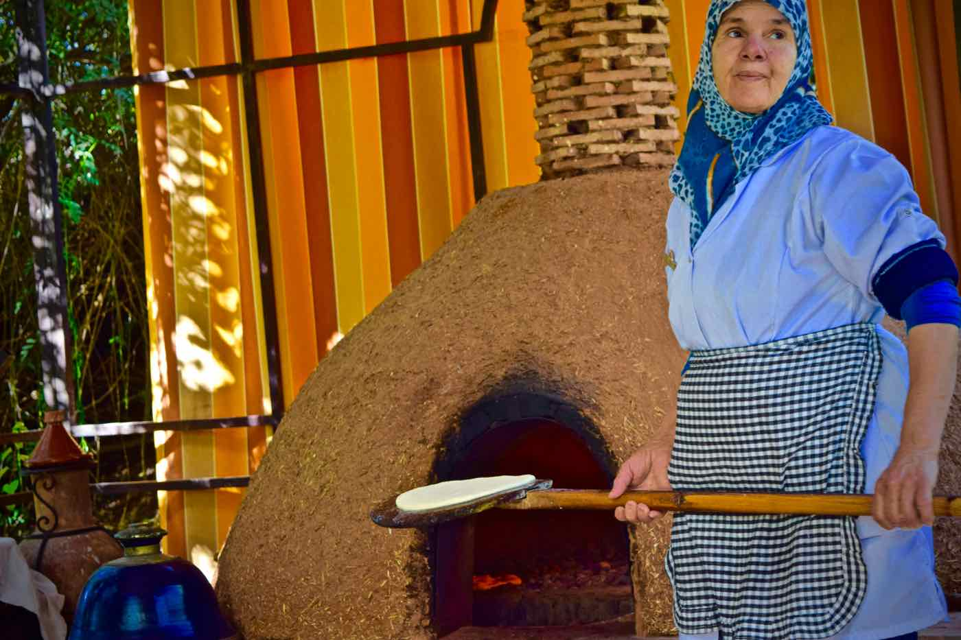 Baking bread at La Maison Arabe Marrakech