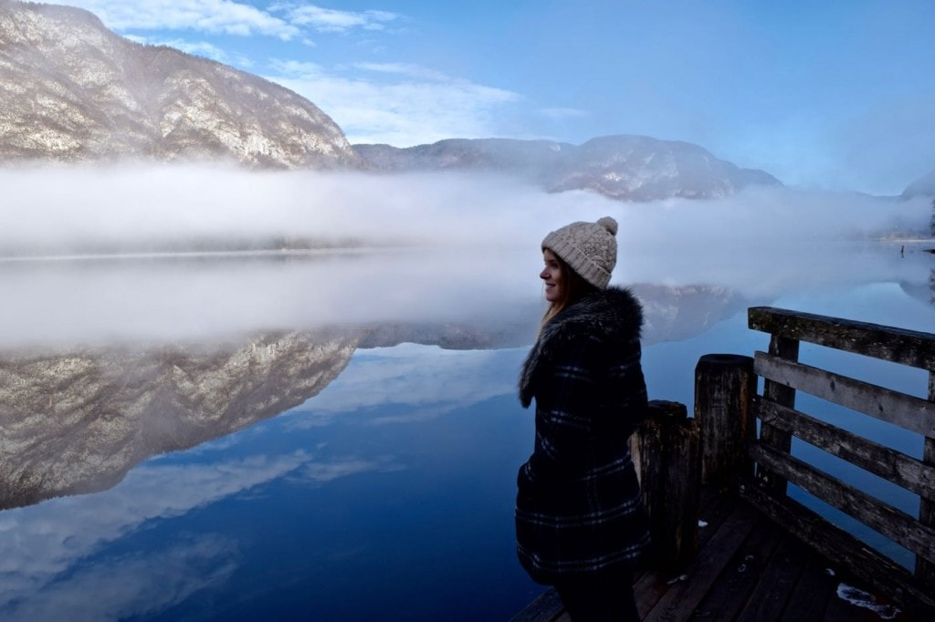 Wanderlust Chloe at Lake Bohinj, Slovenia