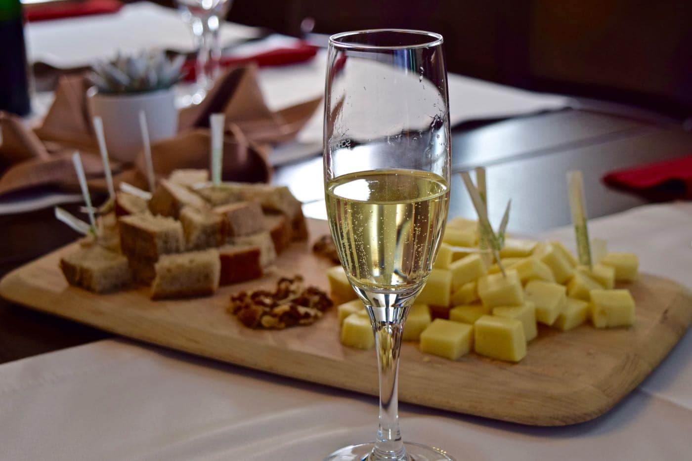 Slovenian sparkling wine in the town of Sentrupert