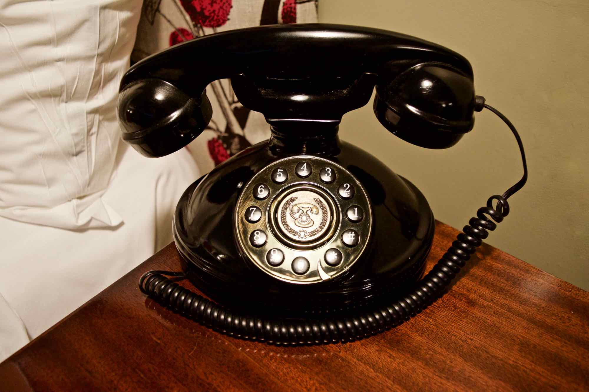 Vintage telephone at Burley Manor Hotel, New Forest